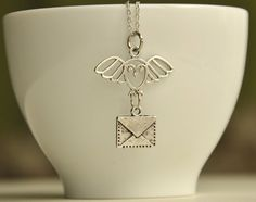 hedwig necklace - harry potter necklace - owl post necklace - owl necklace - every 2 item purchase receives gift infinity necklace