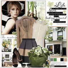 Polyvore - aside from the ridiculously priced clothes and accessories, I love the color combination.