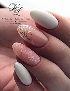 Tag for holiday : mixing mattes metallics holiday nail art tutorial Manicure Nail Designs, Nail Manicure, Manicure Ideas, Fabulous Nails, Perfect Nails, Cute Nails, Pretty Nails, Pink Nails, My Nails