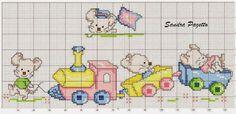 Χειροτεχνήματα: σχέδια με ποντικάκια για κέντημα /mouse cross stitch patterns