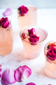 A sweetly sophisticated drink, this rose petal pink lemon spritzer mocktail with sparkling water will awe your guests (and undoubtedly make it to their Instagram feeds).