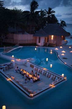 Everyone loves luxury swimming pool designs, aren't they? We love to watch luxurious swimming pool pictures because they are very pleasing to our eyes. Now, check out these luxury swimming pool designs. Dream Vacations, Vacation Spots, Beach Vacations, Places To Travel, Places To Go, Travel Destinations, Luxury Pools, Luxury Spa, Luxury Life