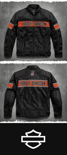 For warm weather riding, a mesh jacket is indispensible. | Harley-Davidson Men's Trenton Mesh Riding Jacket