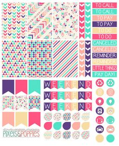73 Aztec Theme Stickers Planner Stickers by PixelsAndPoppiesShop