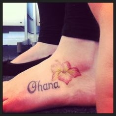 """""""Ohana means family, and family means no one gets left behind."""" Disney quote, and a cute tattoo"""