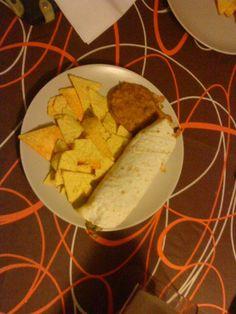 Mexican burrito with nachos
