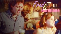 fred and Hermione~James and Emma Harry Potter Ships, Harry Potter Characters, Harry Potter Memes, Fred And Hermione, Hermione Granger, Hp Fanfiction, Hogwarts Alumni, Phelps Twins, Weasley Twins