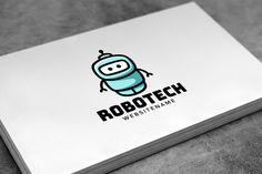 Robot Logo Design by pne-design on @creativemarket