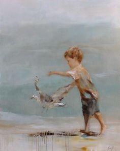"Artist - Susie Pryor ""Chasing Gulls"""
