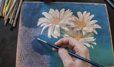 Solvent Applied On Colored Pencil