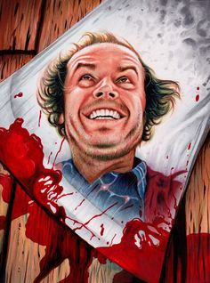 """Stanley Kubrick - """"The Shining"""" by Trev Murphy Arte Horror, The Shining, Stanley Kubrick, Scary Movies, Horror Movies, Here's Johnny, Images Gif, Photo Awards, Horror Icons"""