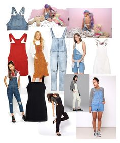 """""""Dungarees"""" by suzinjersey on Polyvore featuring ASOS, Current/Elliott, House of Jam, Moschino, WearAll, Boohoo, Calvin Klein Jeans, Front Row Shop, jeans and dungaree"""