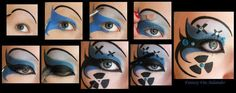 DIY Halloween Makeup : DIY Blue cyber make up