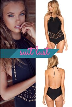 905d1db80e Little black swimsuit heaven. The Beach Riot Arcadia One Piece offers  stunning laser cut embroidery