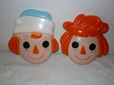 Vintage Raggedy Ann and Andy  Chalkware by VINTAGEShopsDelight, $15.00