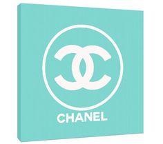 Custom Fashion Art Print  Tiffany blue Chanel logo by TypeAndStyle, $59.00
