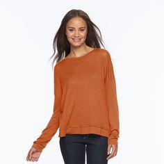 Juniors' Mudd® Enveloped Back Top, Girl's, Size: Large, Orange