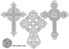 """Lineart for a Celtic knotwork tattoo flash sheet I made back in 2003. 11""""x14"""", micron pen on paper Color version is here: To view the full set of flash, look here: My personal inspiration for the m..."""