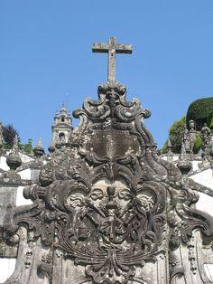 """Fonte das Cinco Chagas (""""fuente de las Cinco Llagas"""") en los Escadórios do Bom Jesus de Bom Jesus do Monte (Braga)."""