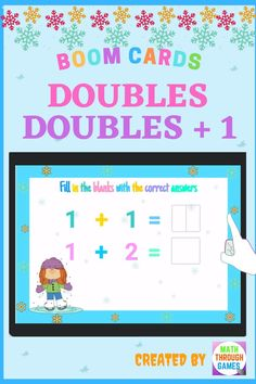 First Grade Math Doubles and Doubles Plus 1 Within 20 Winter Math Distance Learning Digital Task Cards >>>Common Core State Standards: 1.OA.C.6 #firstgrade #firstgrademath #boomcards #mathboomcards #wintermathboomcards #winterboomcards #firstgradeboomcards #doubles #doublesplus1 #doublesplusone #mathgames #digitaltaskcards #mathtaskcards #digitalmathtaskcards
