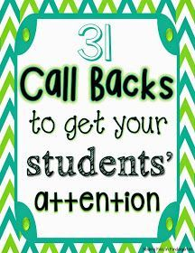 {Free} Fun ways to get students' attention in the classroom.  Shared via Google Drive.