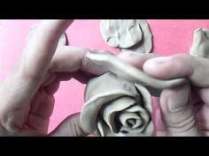 how to make rose step by step with clay - YouTube