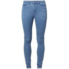 Noisy May LEXI Slim fit jeans medium ($34) ❤ liked on Polyvore featuring jeans, pants, bottoms, jeans/pants, blue denim, slim cut jeans, zipper jeans, mens jeans, womens tall jeans and blue slim jeans