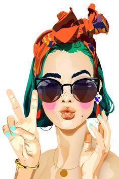 Pop art girl illustration inspiration Ideas for 2019 Illustration Photo, Illustrations, Fashion Illustration Face, Buch Design, Design Art, Sketch Design, Interior Design, Pop Art Girl, Art Inspo