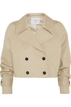 Finds + LAHSSAN cropped cotton-gabardine trench jacket | NET-A-PORTER