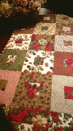 A Christmas quilt / table topper