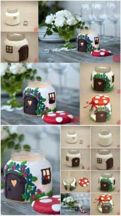 , 25 Cute DIY Fairy Furniture and Accessories For Adorable Fairy Garden. , 25 Cute DIY Fairy Furniture and Accessories For Adorable Fairy Garden Fairy Crafts, Garden Crafts, Diy Garden Decor, Garden Projects, Garden Ideas, Garden Decorations, Diy Projects, Outdoor Projects, Recycled Garden Art