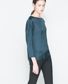 ZARA - WOMAN - BLOUSE WITH BOW AT THE BACK