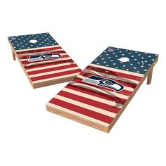 NFL Seattle Seahawks Wild Sports 2x4 Tailgate Toss Cornhole Shield - Stars and Stripes