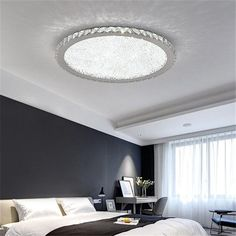 Add brilliant shine to your home with the Luxxi Cristal LED Ceiling Light. This ceiling light impresses not only with its rich details but also with its functionality and imagination. Luxxi will not only be a unique lighting highlight at home but . Led Ceiling Light Fixtures, Modern Led Ceiling Lights, Chandelier Ceiling Lights, Chandeliers, Round Crystal Chandelier, Crystal Ceiling Light, Crystals In The Home, Living Room Bedroom, Bedroom Ceiling