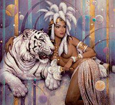fantasy female cat art   DWEAMZ !!: The babes of the Fantasy Art World