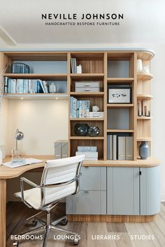 For over three decades Neville Johnson has been crafting bespoke furniture solutions designed to the exact specifications of our clients. Request A FREE brochure today. Small Home Offices, Home Office Space, Home Office Decor, Home Office Cabinets, Home Office Furniture, Furniture Ideas, Office Interior Design, Office Interiors, Woodworking Furniture Plans