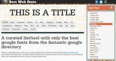 Google Fonts(グーグル・フォント)を使ったページプレビューが見れるサイト「Best Google Web Fonts」