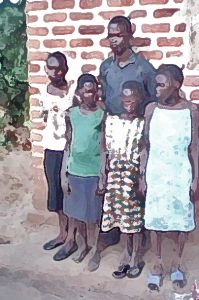 YOUTH IN EASTERN UGANDA PAY HEAVY PRICE FOR TURNING TO JESUS - Pastor Brian Mukisa and some of the children he is caring for, in photo altered for security reasons. (Morning Star News)
