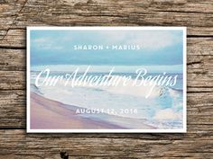 Beach Adventure Save the Date Postcard // by factorymade on Etsy