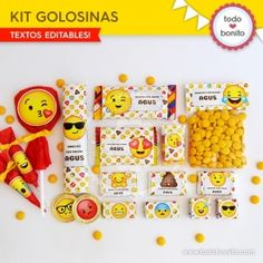 Emojis: kit decoración - Todo Bonito