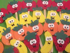 Ponto de Encontro da Pedagogia: Frutinhas em eva