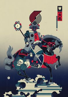Andrew Archer is the creative force behind Edo Ball, envisioning NBA basketball players in the style of ancient Japanese woodblock prints called, ukiyo-e. Basketball Art, Basketball Players, Graphic Design Illustration, Illustration Art, Illustrations, Andrew Archer, Nba Pictures, Nba Wallpapers, Japanese Art