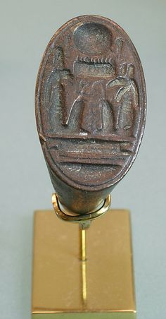 *RING, SETI I:   Dynasty 19-20, c. 1295-1070 B.C., Georgraphy: Egypt, Middle Egypt, el-Amama (Akhetaten); inc. el-Hagg Qandi; Medium: Bronze