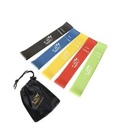 Fit Simplify Resistance Loop Exercise Bands with Instruction Guide, Carry Bag, EBook and Online Workout Videos, Set of 5 Best Resistance Bands, Resistance Loop Bands, Resistance Workout, Full Body Workout At Home, At Home Workouts, Fast Workouts, 80 Day Obsession Workout, Online Workout Videos, How To Start Exercising