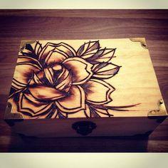 woodburnt keepsake box by caspermugridge
