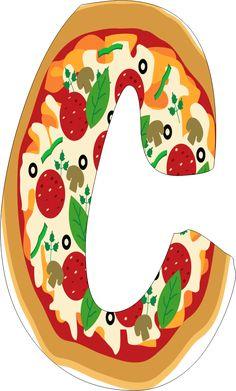 Oh my Alfabetos!: Alfabeto de pizza.