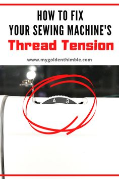 Tension problems with your sewing machine? Read this amazing sewing machine tension guide that will teach you how to fix your thread tension problems by troubleshooting them on the easiest way. Sewing Machine Tension, Sewing Machine Repair, Sewing Machine Thread, Sewing Stitches, Sewing Machines, Sewing Notions, Sewing Basics, Sewing Hacks, Sewing Tutorials