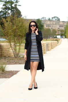 striped dress and bl