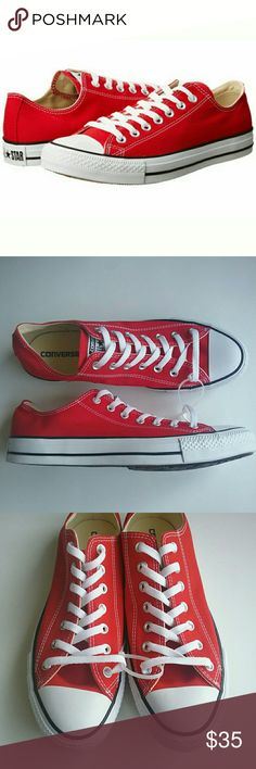 445d0111021b Converse Chuck Taylor All Star Red Low Tops 11 NEW Converse Chuck Taylor  All Star Shoes