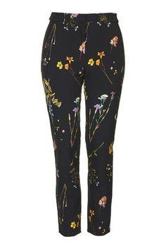 Floral Cigerette Trousers